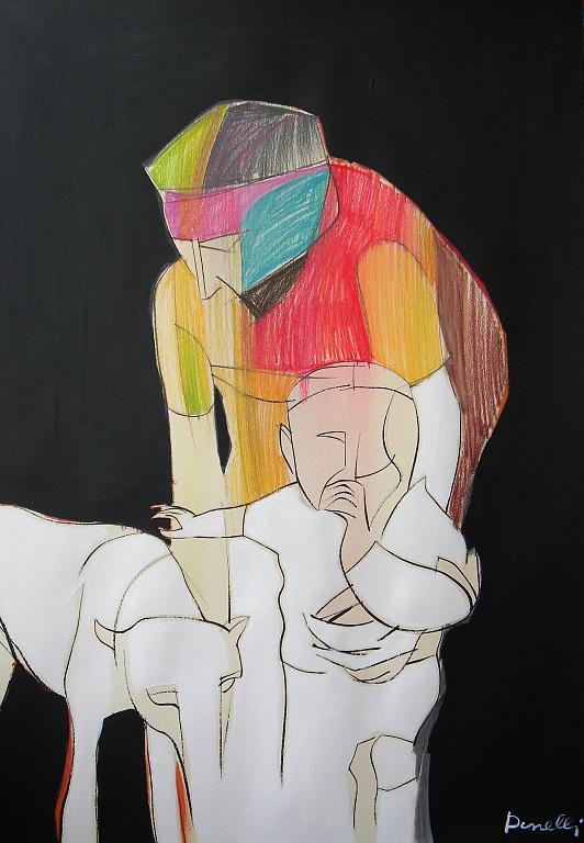 Primi passi - Gabriele Donelli - Pastello e acrilico - 400 €
