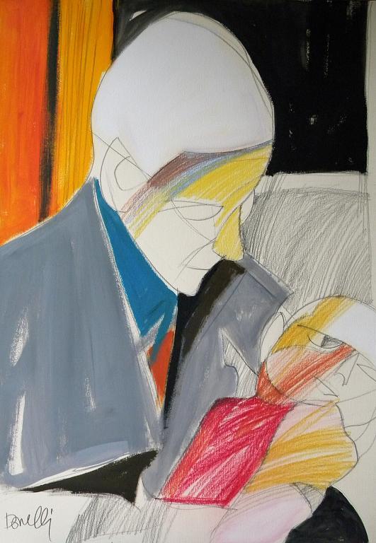 Maternità - Gabriele Donelli - Pastello e acrilico - 400 €
