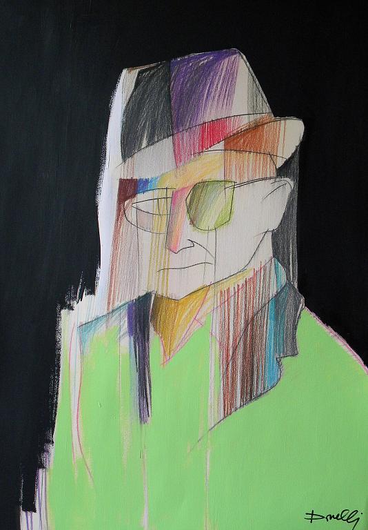 Ritratto di Alessandro Bardini - Gabriele Donelli - Pastello e acrilico - 300 €