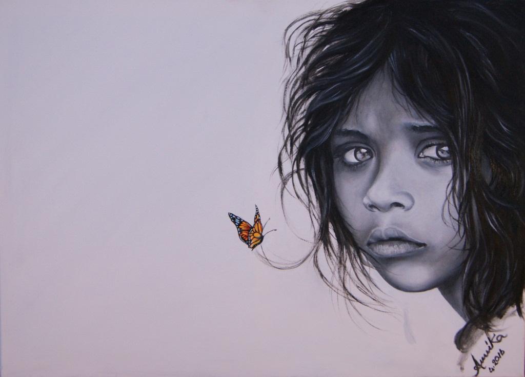 Mariposa libre - anna casu - Olio