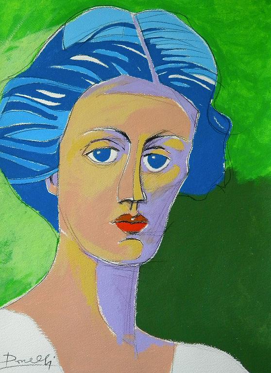 Ritratto di Vanessa Bell - Gabriele Donelli - Acrilico - 700 €