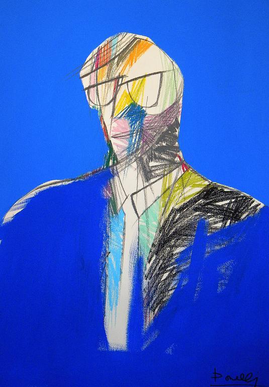 Ritratto di Vittorio Sgarbi - Gabriele Donelli - Pastello e acrilico - 900 €
