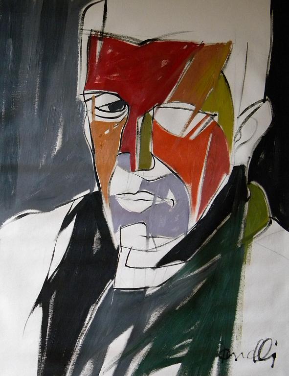 Ritratto di Aldo Busi - Gabriele Donelli - Olio - 400 €