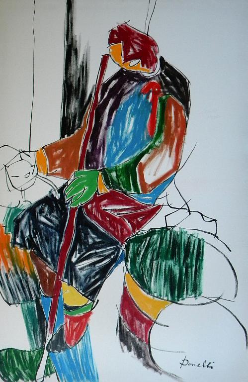 Ritratto di una vecchia barbona - Gabriele Donelli - Olio - 400 €