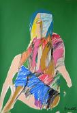 Donna seduta - Gabriele Donelli - Pastello e acrilico - 300€