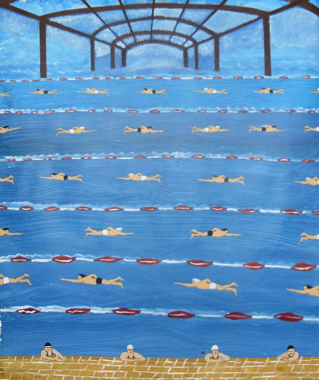 nuoto perpetuo - franco scacchi - Acrilico -  €
