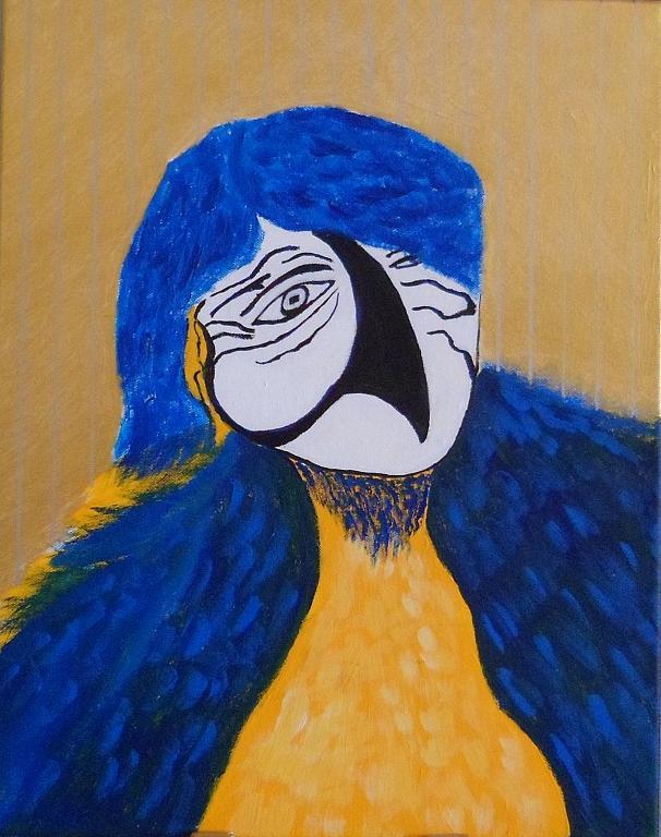 pappagallo man 1 - franco scacchi - Acrilico - 500 €