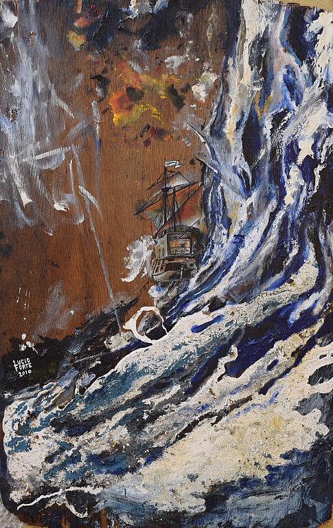 Veliero - Lucio Forte - Acrilico, olio, smalto su legno - 250 €