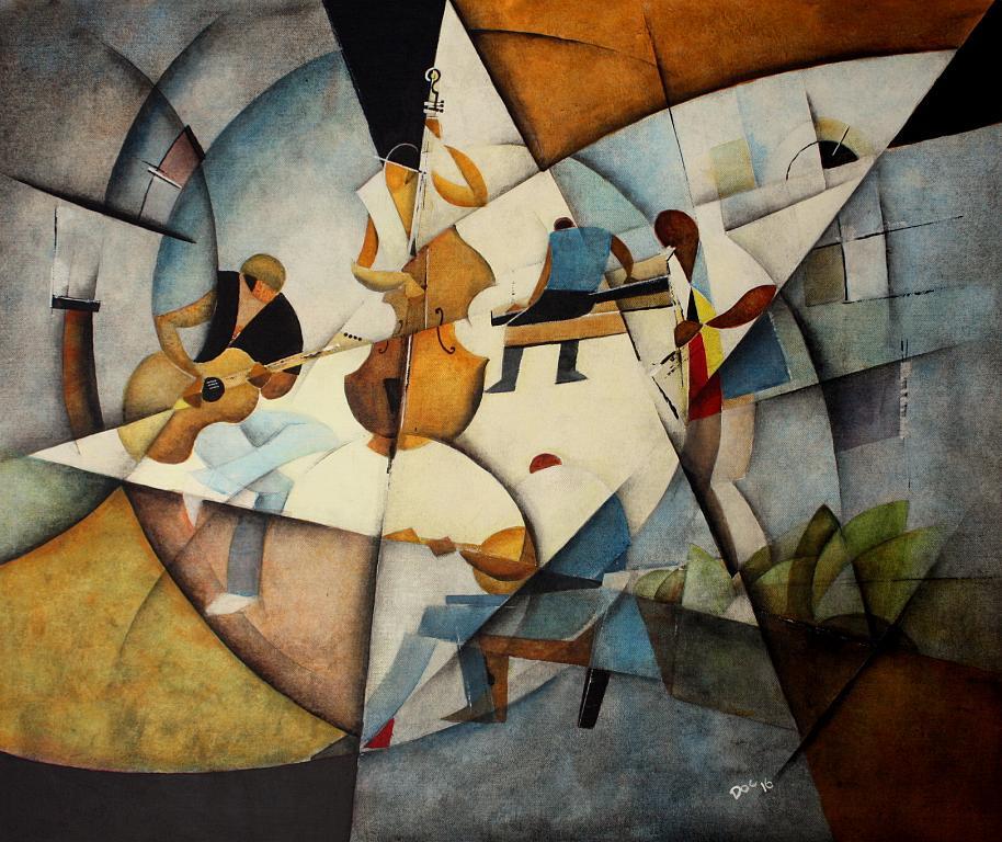 Vernissage musicale - Guido Ferrari - Acrilico - 470 €