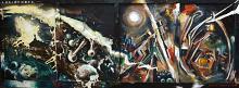 Medusa - Lucio Forte - Acrilico, olio, smalto, gessetti, bitume su tavola - 800€