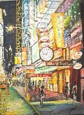 Hilton di Times Square - francesco ottobre - sabbia su tela - 650€
