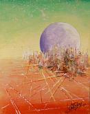 alba nella città aliena - francesco ottobre - Acrilico - 70€