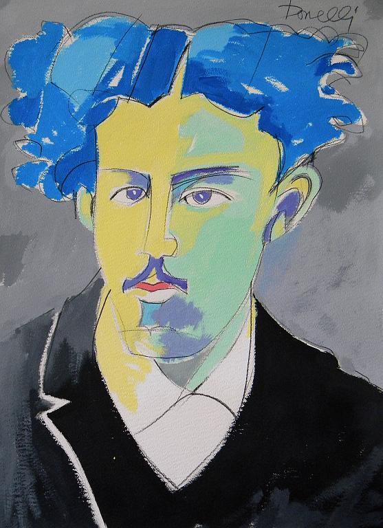 Ritratto di Antonio Fogazzaro - Gabriele Donelli - Acrilico - 300 €