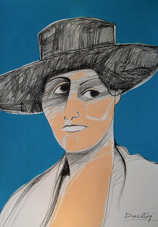 Ritratto di Olga Khokhlova - Gabriele Donelli - Matita e acrilico - 300 €