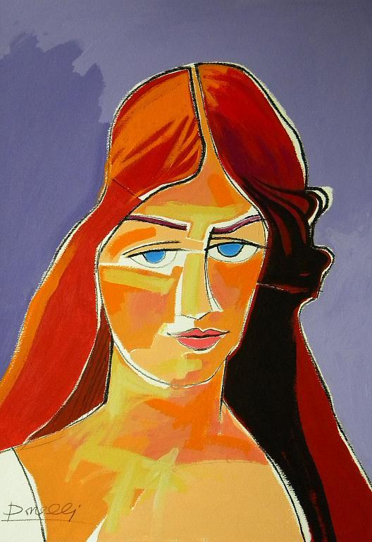 Ritratto di Jeanne Hebuterne - Gabriele Donelli - Acrilico - 300 €