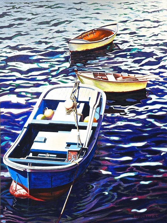 Nel porticciolo dei pescatori - GRECO Bruno - Acrilico
