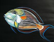 Pesce Chirurgo Zebrato - Ruzanna Scaglione Khalatyan - Tempera