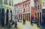 luci e ombre a Correggio - Mery BLINDU - Acrilico - 200 €