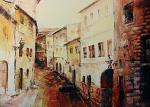vecchia salita - Mery BLINDU - Acrilico