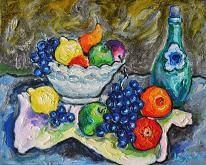 natura con frutta - michele la sala - Olio