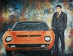 Ferruccio Lamborghini N2 - Mery BLINDU - Acrilico - 200 €