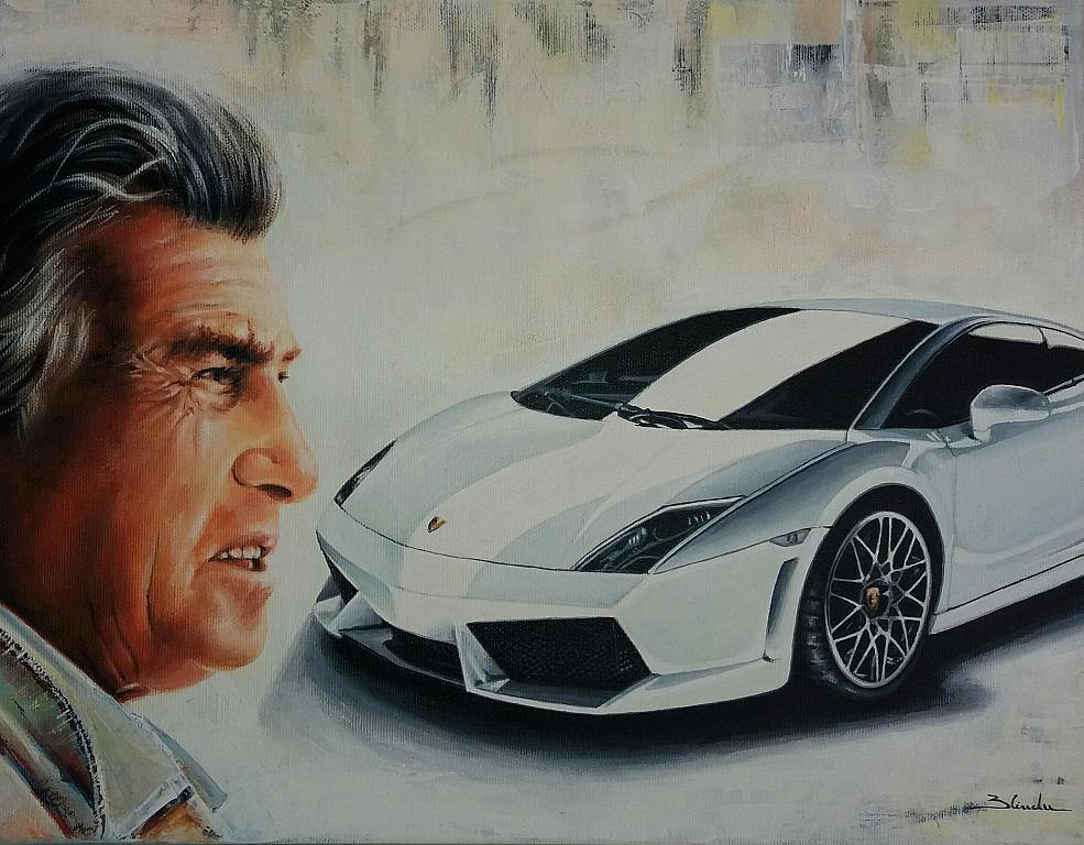 Ferruccio Lamborghini N3 - Mery BLINDU - Acrilico