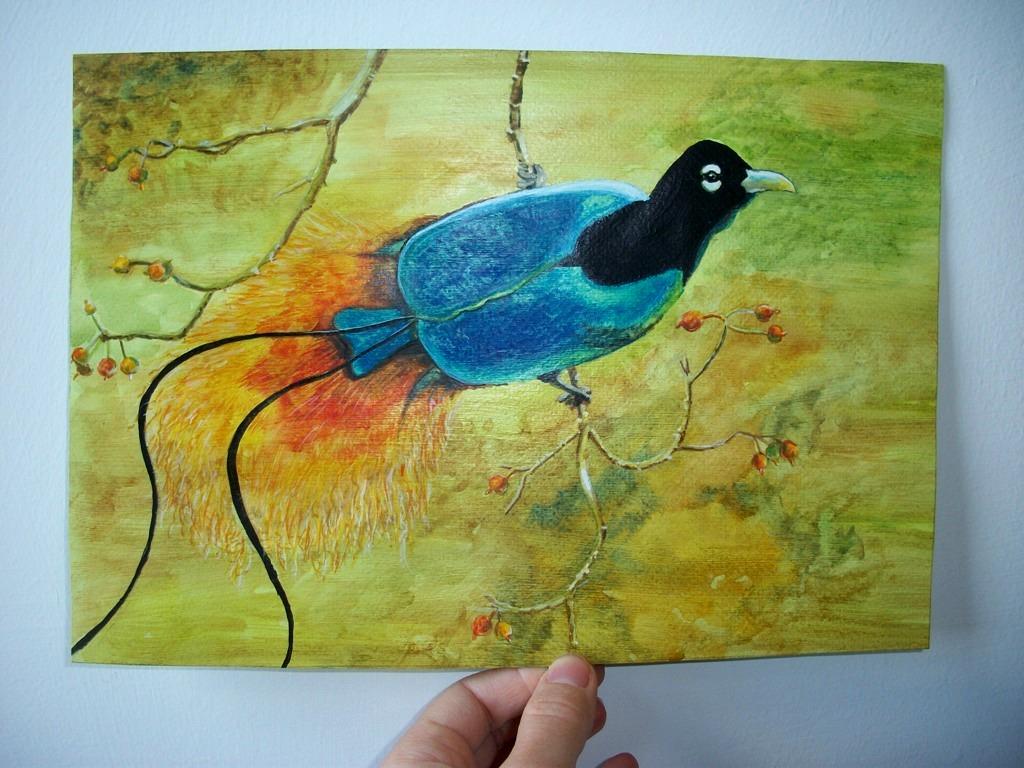 Uccelli del paradiso - Ruzanna Scaglione Khalatyan - Acquerello - 50 €