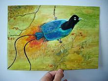 Uccelli del paradiso - Ruzanna Scaglione Khalatyan - Acquerello - 50€