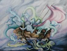 L'Arca  - esther diana - Olio