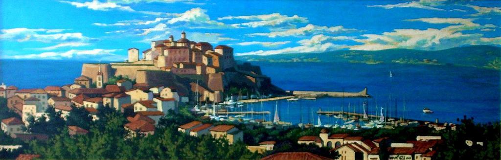 Cittadella di Calvi (Corsica) - Paolo Benedetti - Acrilico - 700 €