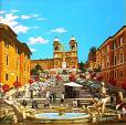 Piazza di Spagna (Roma) - Paolo Benedetti - Acrilico - 2000 €