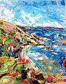 along the coast - tiziana marra - mixed media