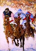 Galoppata sulla neve - Paolo Benedetti - Acrilico - 100€