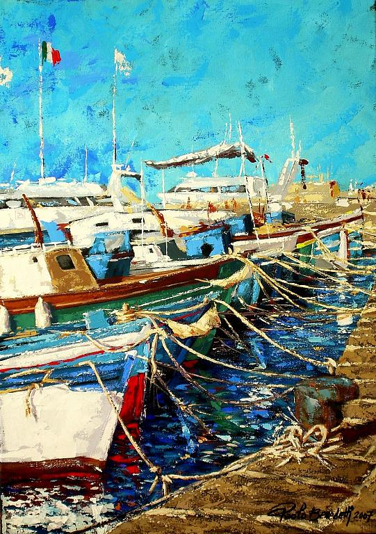 Il porto - Paolo Benedetti - Acrilico - 400 €