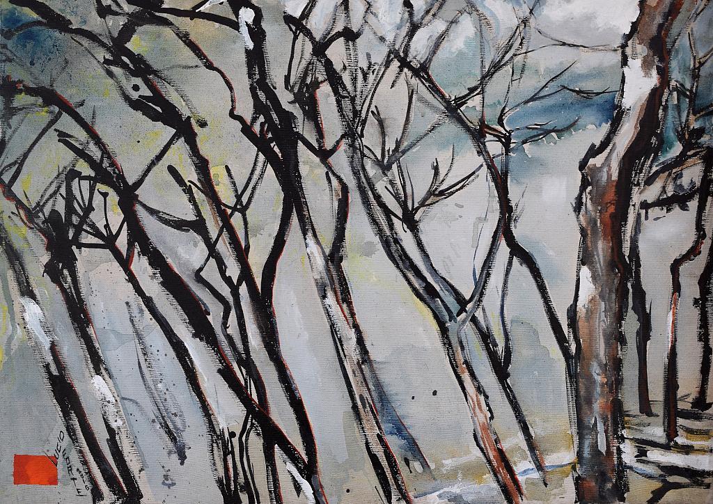 Senza Titolo 9 - Lucio Forte - Acrilico, acquerello, olio su tela - 150 €