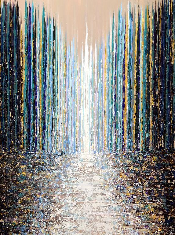 Corridoio di colori II/ Hall of colors II - Daniela Pasqualini - Acrilico
