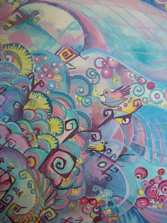 Albero dell'abbondanza - Ruzanna Scaglione Khalatyan - Acrilico
