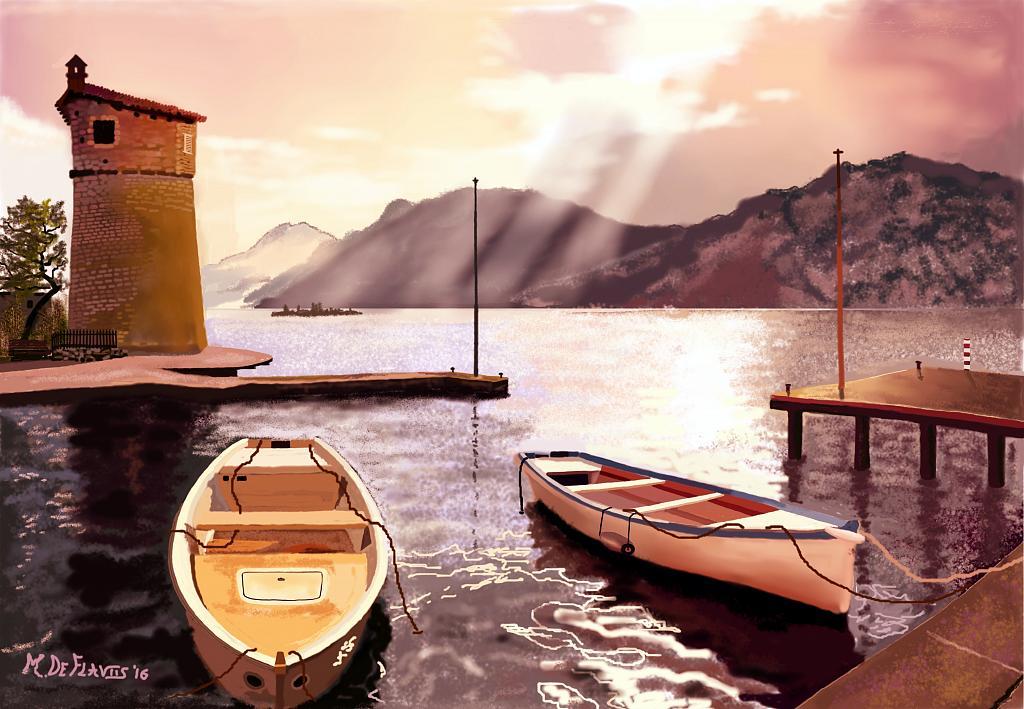 Torre sul lago - Michele De Flaviis - Digital Art - 160 €