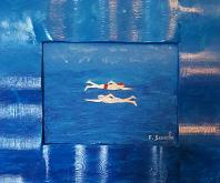 pesci - franco scacchi - Acrilico - 120€ - Venduto!