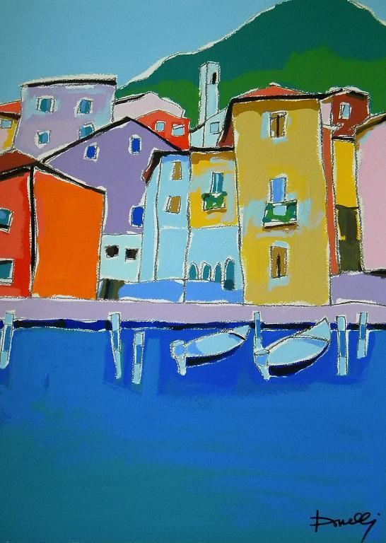 Peschiera Maraglio - Gabriele Donelli - Acrilico - 900 €