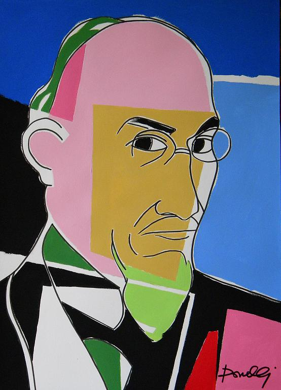 Ritratto di Erik Satie - Gabriele Donelli - Acrilico - 300 €