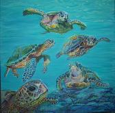 Le tartarughe marine - Ruzanna Scaglione Khalatyan - Acrilico