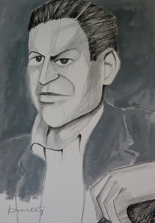 Ritratto di David Park - Gabriele Donelli - Matita e acrilico - 1200 €