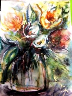 Fiori in vaso - tiziana marra - Acquerello - 55,00 €