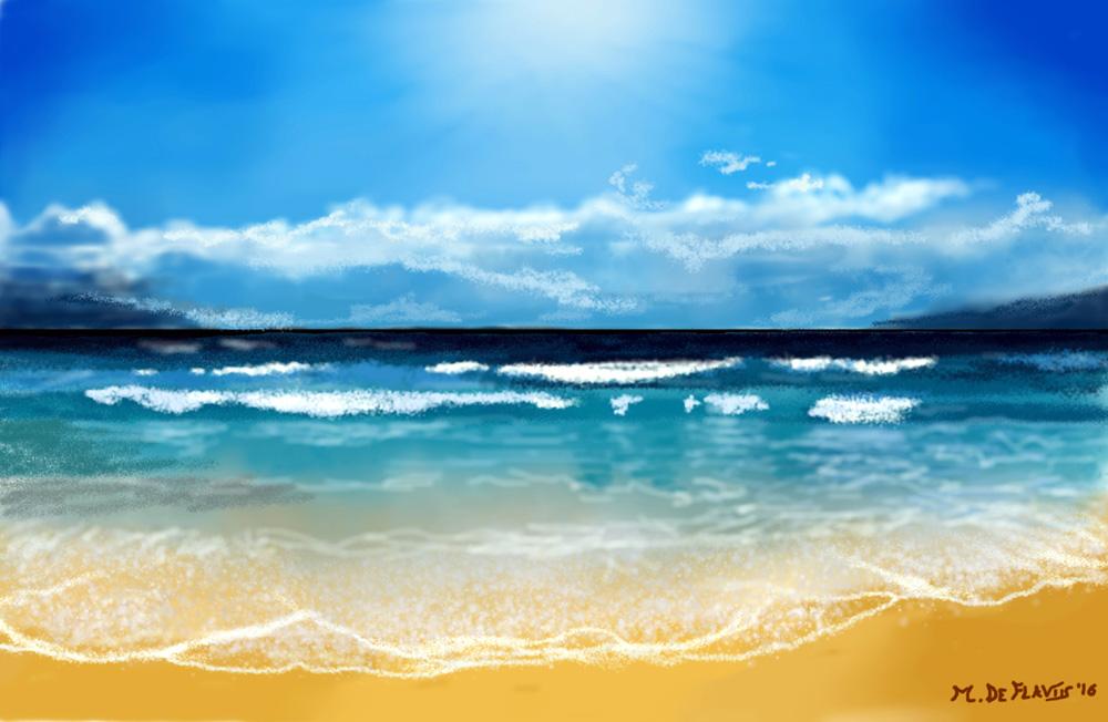 Wave sea - Michele De Flaviis - Digital Art