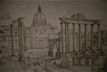 Fori imperiali romani - Alessandro Rizzo - Carboncino
