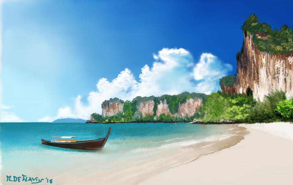 Spiaggia sull'oceano - Michele De Flaviis - Digital Art