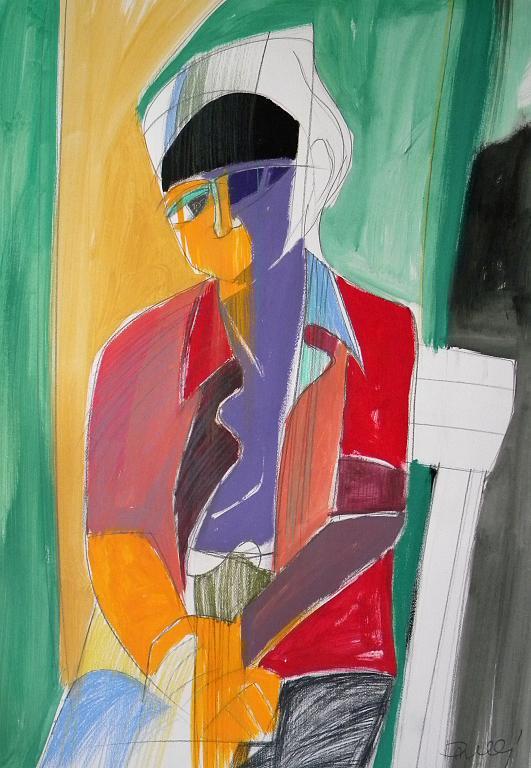 Ritratto di Giuseppina Bresciani - Gabriele Donelli - Pastello e acrilico - 800 €