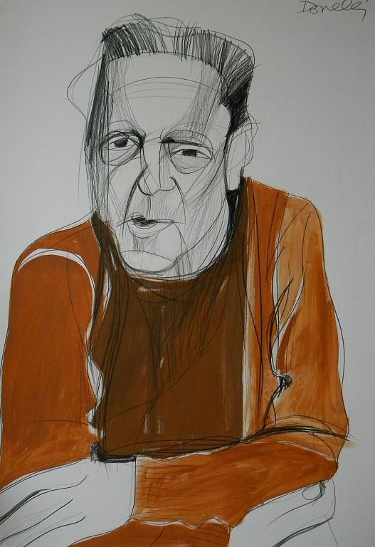 Ritratto di Sandro Penna - Gabriele Donelli - Matita e acrilico - 300 €