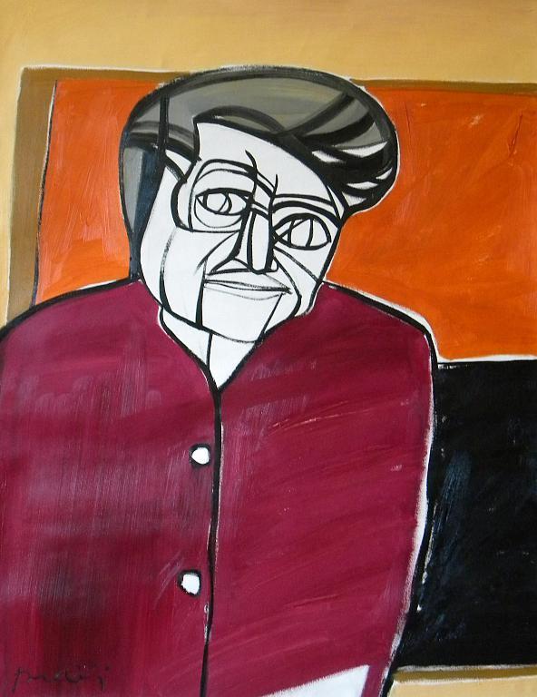 Ritratto di Alberto Burri - Gabriele Donelli - Olio - 1200 €